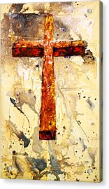 On That Old Rugged Cross Acrylic Print