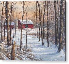 On That Snowy Morn Acrylic Print