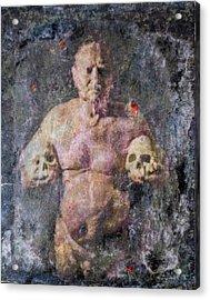 On The Altar Of Skull Carson #3. A Self-portrait, 2016 Acrylic Print by Wayne Higgs