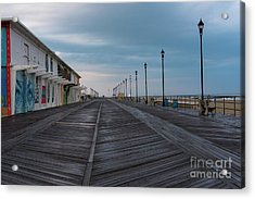 On The Asbury Park Boardwalk  Acrylic Print by Joe Benning