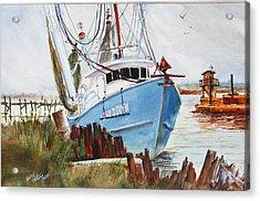 On The Back Bay Biloxi Acrylic Print