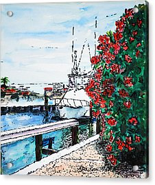 On The Back Porch Acrylic Print by Neva Rossi