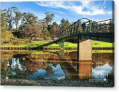 Acrylic Print featuring the photograph On The Banks Of The River By Kaye Menner by Kaye Menner
