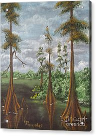 On The Bayou 2 Acrylic Print by Ann Kleinpeter