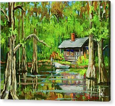 On The Bayou Acrylic Print by Dianne Parks