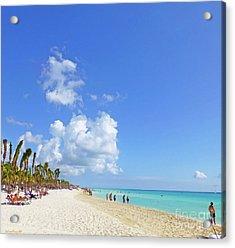 Acrylic Print featuring the digital art On The Beach M1 by Francesca Mackenney
