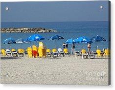 On The Beach-tel Aviv Acrylic Print