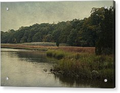 Acrylic Print featuring the photograph On The Brink Of Winter by Rosemary Aubut