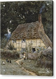 On The Brook Road Near Witley Acrylic Print by Helen Allingham