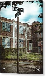 On The Corner Of Ford And Main Acrylic Print
