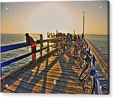 On The Dock 0 Acrylic Print by Lawrence Christopher
