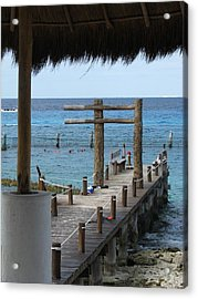 On The Dock Acrylic Print by Alexis Lape