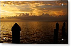 On The Dock Of The Bay Acrylic Print by Christin Walton