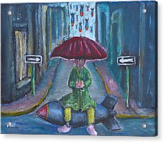 On The Edge Of Rainy Days And Mondays Acrylic Print