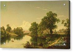 On The Esopus Creek, Ulster County, Ny Acrylic Print