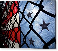 Acrylic Print featuring the photograph On The Fence by Robert Geary