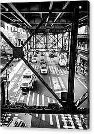 On The Go In Queens, Ny Acrylic Print by JMerrickMedia