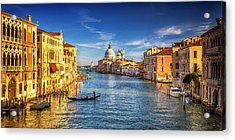 Acrylic Print featuring the photograph On The Grand Canal by Andrew Soundarajan