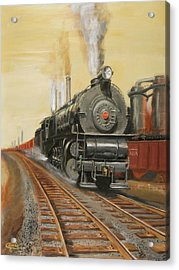 On The Great Steel Road Acrylic Print by Christopher Jenkins