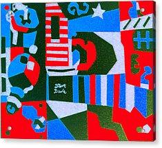 On The Green Acrylic Print by Stephen Davis