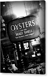 On The Half Shell - Bw Acrylic Print