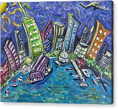 On The Hudson Acrylic Print by Jason Gluskin