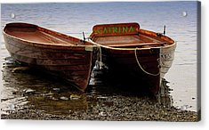 On The Lake Acrylic Print by Martin Newman