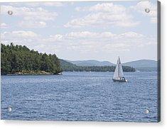 On The Lake Acrylic Print by Paul Godin