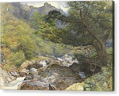 On The Lyn, North Devon Acrylic Print by William Henry Millais