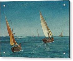 On The Mediterranean  Acrylic Print by Albert Bierstadt