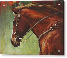 Acrylic Print featuring the painting On The Move by Harvie Brown