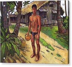 On The Old Beach Road Acrylic Print by Douglas Simonson