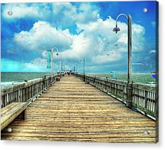 On The Pier At Tybee Acrylic Print