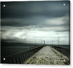 Acrylic Print featuring the photograph On The Pier by Perry Webster