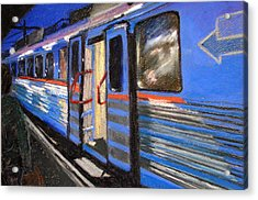 On The Platform Acrylic Print by Art Nomad Sandra  Hansen