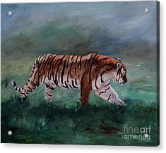 Acrylic Print featuring the painting On The Prowl by Brenda Thour