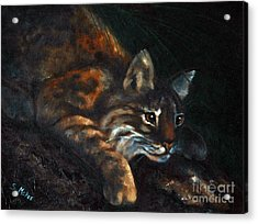 Acrylic Print featuring the painting On The Prowl by Suzanne McKee