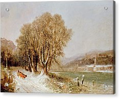 On The River Neckar Near Heidelberg Acrylic Print by Joseph Paul Pettit