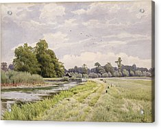 On The River Ouse Hemingford Grey Acrylic Print by William Fraser Garden