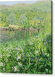On The Riverbank  Acrylic Print by Malcolm Warrilow