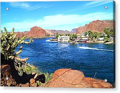 On The Rivers Edge Acrylic Print