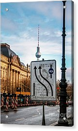 On The Road In Berlin Acrylic Print