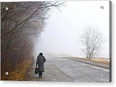 On The Road Acrylic Print by Kobby Dagan