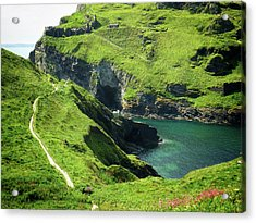 Acrylic Print featuring the photograph On The Road To Tintagel by Connie Handscomb