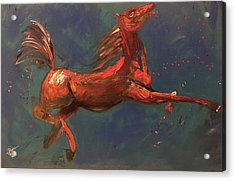 On The Run - Horse Acrylic Print by Rami Besancon