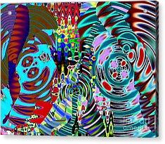 On The Same Wavelength Acrylic Print by Navo Art