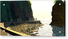 On The Seawall  Stanley Park Acrylic Print by Neil Woodward
