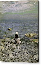 On The Shore Of The Black Sea Acrylic Print by Konstantin Alekseevich Korovin