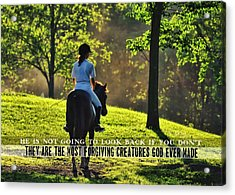 On The Showgrounds Quote Acrylic Print by JAMART Photography