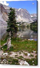 On The Snowy Mountain Loop Acrylic Print